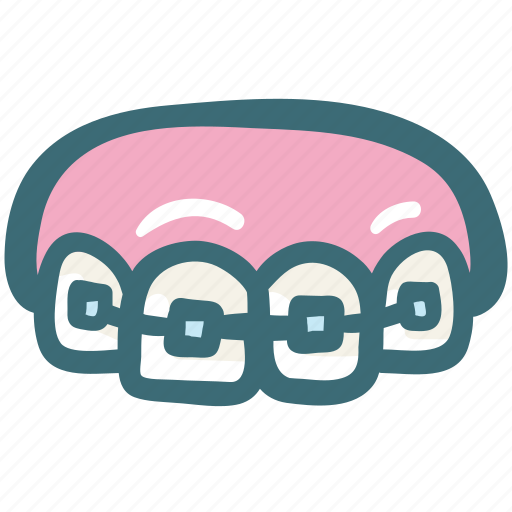 braces, care, dental, orthodontic, straight, teeth, treatment icon