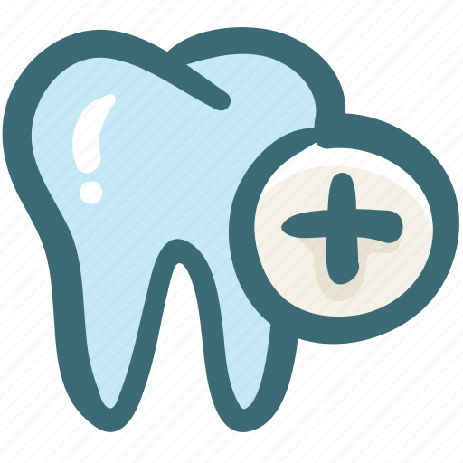 add, care, dental, doodle, gum, plus, tooth icon