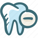 care, delete, dental, gum, minus, remove, tooth icon