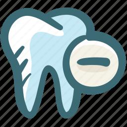 care, delete, dental, gum, minus, remove, tooth icon