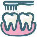 brush, care, cleaning, dental, hygiene, oral, teeth icon
