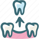 care, dental, doodle, gum, removal, surgery, tooth icon