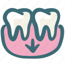 dental, dentist, doodle, gums, gums shorten, hygiene, tooth icon