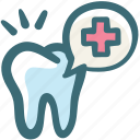 alert, care, dental, dentist, doodle, stomatology, tooth icon