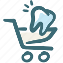 care, cart, dental, doodle, payment, shopping, tooth