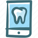application, care, dental, doodle, mobile, screen, tooth