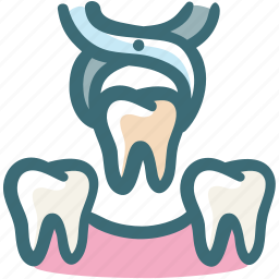 dental, doodle, extract, operation, surgery, tool, tooth icon