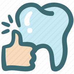care, dental, doodle, good, positive, thumb up, tooth icon