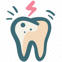 care, dental, doodle, pain, problem, tooth icon