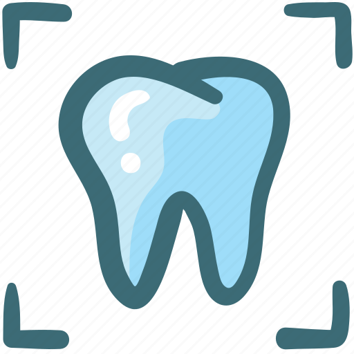 care, dental, doodle, rays, tomography, tooth, xray icon