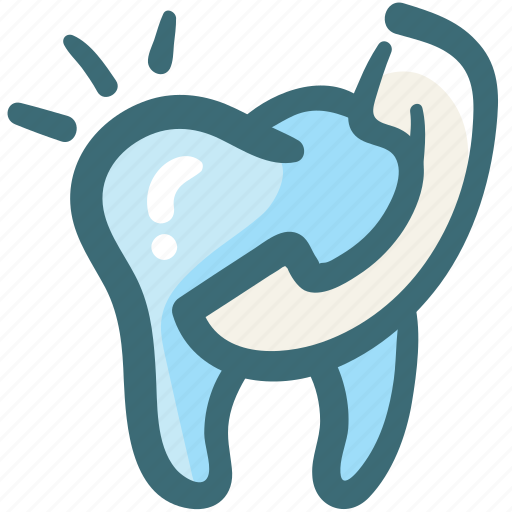 call, care, contact, dental, phone, service, tooth icon
