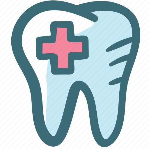 alert, care, dental, dentist, doodle, periodontitis, tooth icon