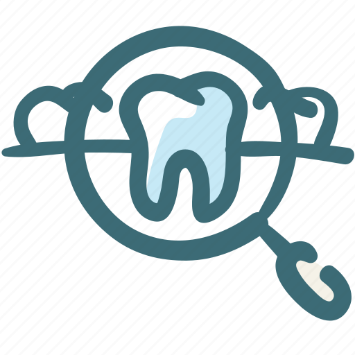 Care, check, check up, dental, doodle, magnifier, tooth icon - Download on Iconfinder