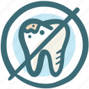 cancel, delete, dental, dirt, doodle, forbidden, tooth icon