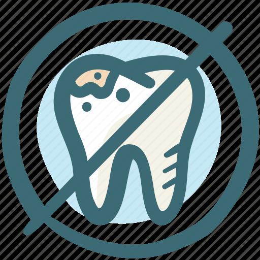 cancel, delete, dental, dirt, doodle, forbidden, tooth icon