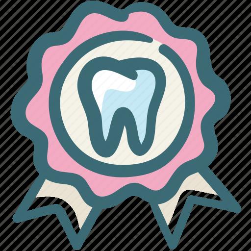 award, best, care, dental, doodle, ribbon, service icon