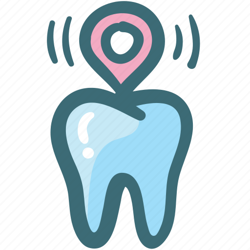 Address, care, clinic, dental, doodle, location, pin icon - Download on Iconfinder