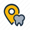 clinic, dental, gps, location, map, navigation, position