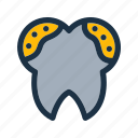 dental, dirty icon