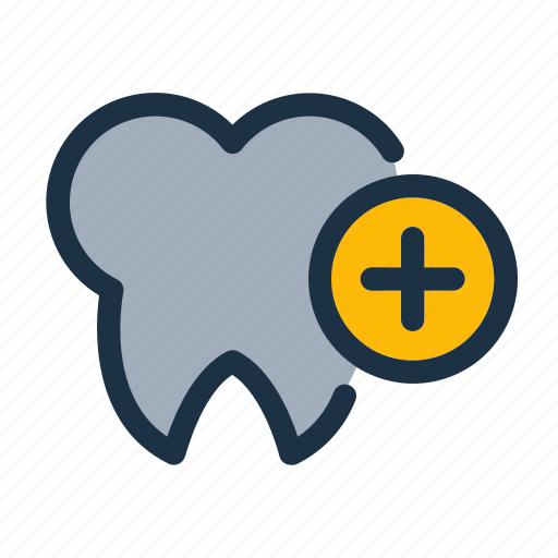 attach teeth, care, dental, donation, health, healthcare, medical icon