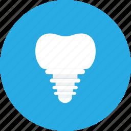 dental, dental clinic, dentist, health care, implants icon