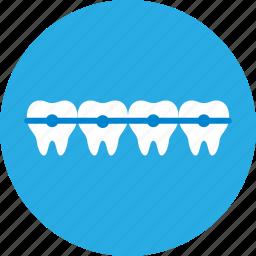 braces, dental, dental clinic, dentist, health care, orthodontics icon