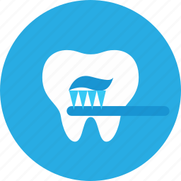 brush, cleanings, dental, dental clinic, dentist, health care icon