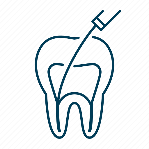 canal, dental, dentist, dentistry, root, tooth icon