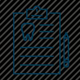 board, document, form, medical, pen, pencil icon
