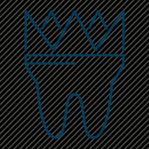 crown, dental, dentist, stomatology, tooth icon