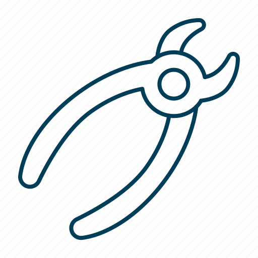 extraction, forceps, pliers, repair, tool icon