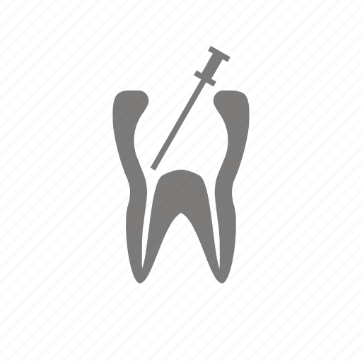 canal, dental, pulpitis, root, tooth, treatment icon