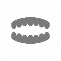 false, jaw, plate, teeth icon