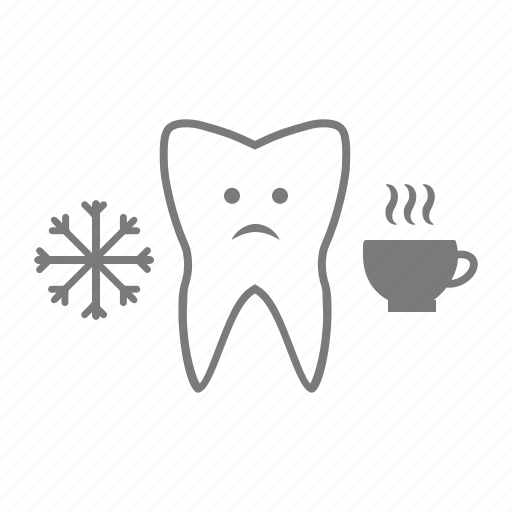 cold, hot, pain, sensetivity, teeth, tooth icon