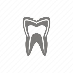 caries, cavity, damage, tooth icon