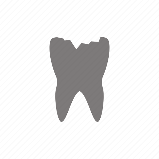 caries, cavity, crack, damage, tooth icon