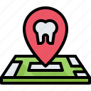 dental, dentist, location, map, medicine, pin, tooth