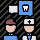 consultation, dental, dentist, dialogue, medicine, talk, tooth