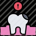 danger, dental, dentist, hole, medicine, tooth