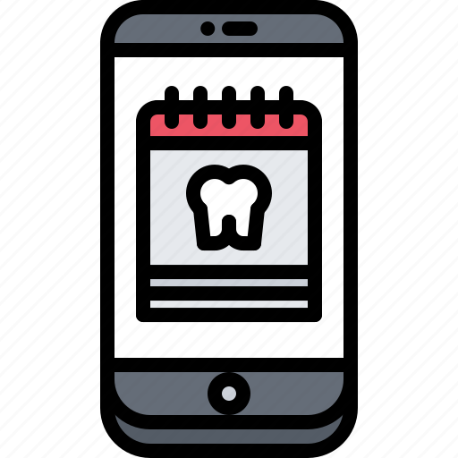Appointment, calendar, dental, dentist, medicine, phone, tooth icon - Download on Iconfinder