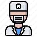 dental, dentist, doctor, mask, medicine, tooth icon