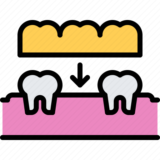 crown, dental, dentist, implant, medicine, tooth icon