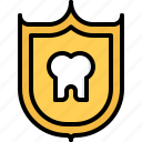dental, dentist, medicine, protection, shield, tooth icon