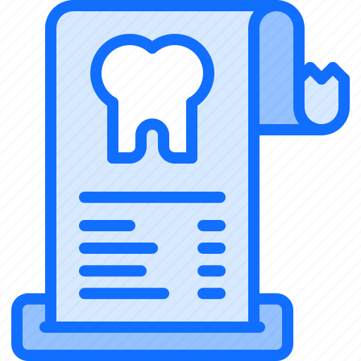 check, dental, dentist, medicine, purchase, tooth icon