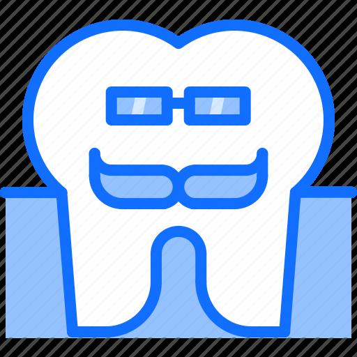 dental, dentist, glasses, medicine, tooth, wisdom icon