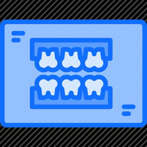 1, dental, dentist, jaw, medicine, ray, tooth, x icon