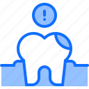 danger, dental, dentist, hole, medicine, tooth icon