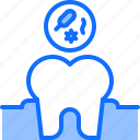 3, bacterium, dental, dentist, medicine, tooth icon