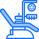chair, dental, dentist, medicine, tool, tooth icon