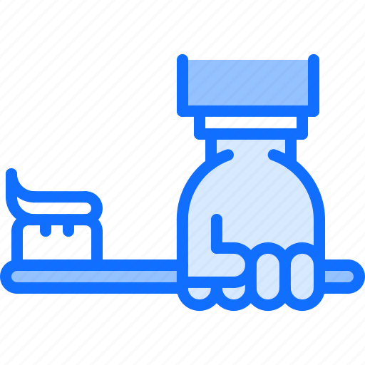 dental, dentist, hand, medicine, tooth, toothbrush, toothpaste icon